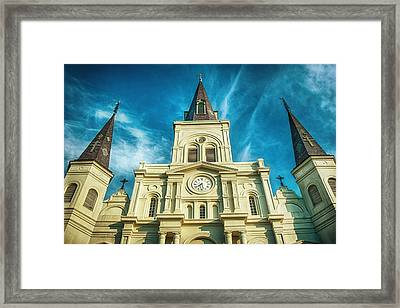 St. Louis Cathedral Framed Print by Brenda Bryant