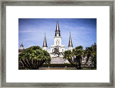 St. Louis Cathedral In New Orleans  Framed Print by Paul Velgos