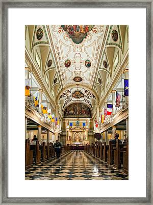 St. Louis Cathedral Framed Print by Steve Harrington