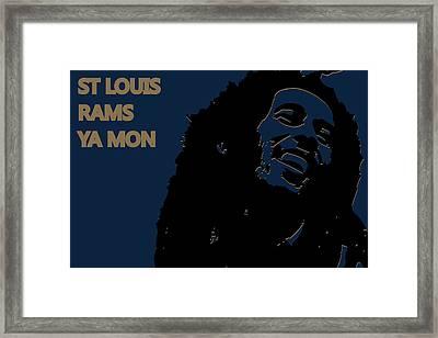 St Louis Rams Ya Mon Framed Print by Joe Hamilton