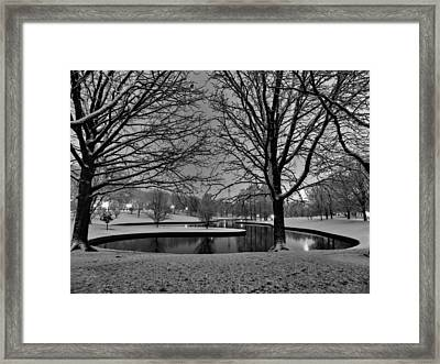 St. Louis - Winter At The Arch 001 Framed Print by Lance Vaughn