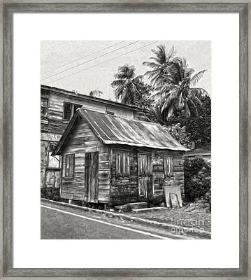St Lucia - Old Shack Framed Print by Gregory Dyer