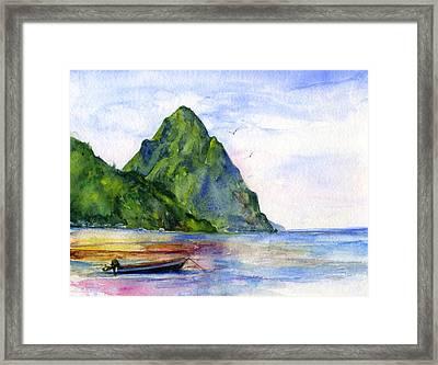 St. Lucia Framed Print by John D Benson