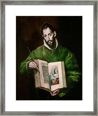 Saint Luke  Framed Print by El Greco