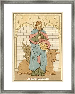 St Luke The Evangelist Framed Print by English School