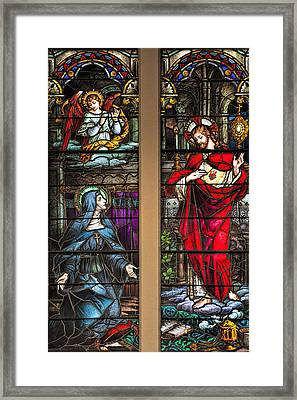 St. Margaret Mary Alacoque And Sacred Heart Of Jesus Framed Print by Bonnie Barry