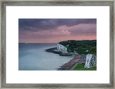 St Margarets Bay Dover Framed Print by Ian Hufton