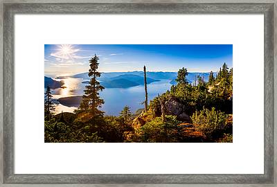 St Mark's Summit Near Vancouver Framed Print by Alexis Birkill