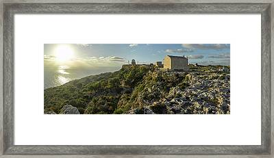 St. Mary Magdalene Chapel At Sunset Framed Print by Panoramic Images