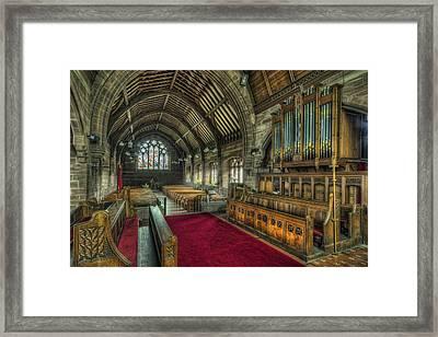 St Marys Church Organ Framed Print by Ian Mitchell