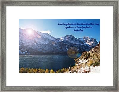 St Mary's Lake At Glacier National Park Framed Print by Jens Larsen