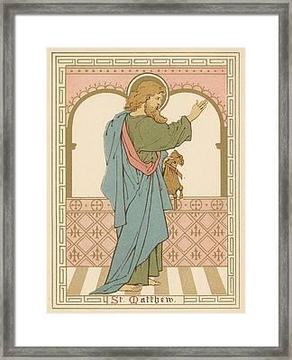 St Matthew Framed Print by English School