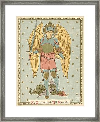 St Michael And All Angels By English School Framed Print by English School