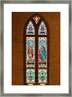 St Michael And St Raphael Framed Print by Christine Till
