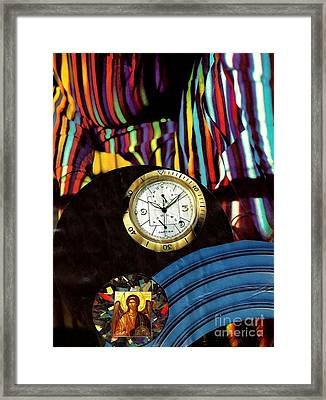 St Michael At The Gates Of Time Framed Print by Sarah Loft