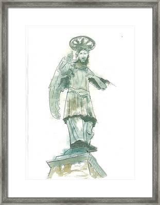 St. Michael From Piran Framed Print by Marko Jezernik