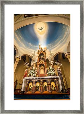 St. Michael The Archangel Church Altar Framed Print by Andy Crawford