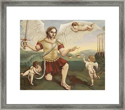 St. Michael The Archangel Framed Print by Shelley Irish
