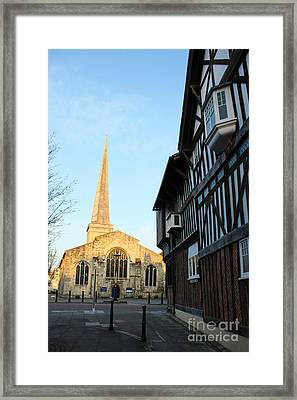 St Michael's Church And Tudor House Southampton Framed Print by Terri Waters