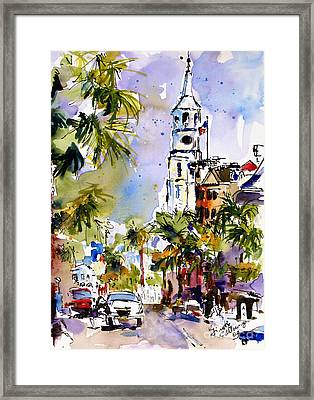 St Michael's Church Charleston South Carolina Framed Print by Ginette Callaway