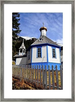 St. Nicholas Russian Orthodox Church Framed Print by Cathy Mahnke