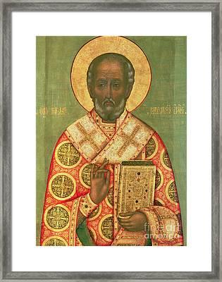 St. Nicholas Framed Print by Russian School