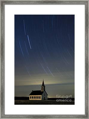 St. Olaf Lutheran Rock Church Framed Print by Keith Kapple