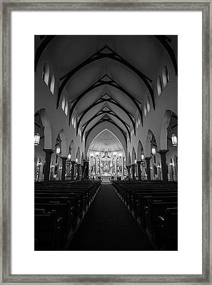 St Patricks Cathedral Fort Worth Framed Print by Joan Carroll