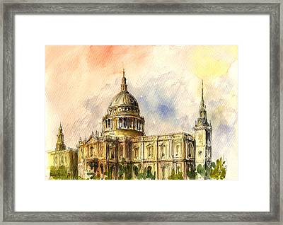 St Paul Cathedral Framed Print by Juan  Bosco