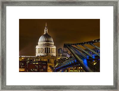 St Paul's And The Millennium Bridge Framed Print by Ian Hufton