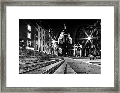 St Pauls Cathedral At Night Framed Print by Ian Hufton