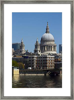 St Pauls Cathedral In London  Framed Print by David French