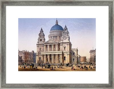 St Pauls Cathedral Framed Print by Achille-Louis Martinet