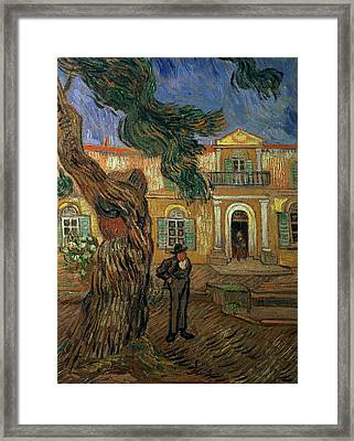 St Pauls Hospital, St Remy, 1889 Framed Print by Vincent van Gogh