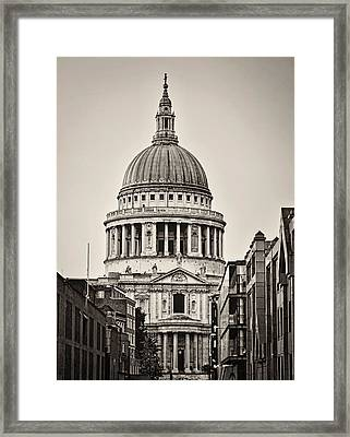 St Pauls London Framed Print by Heather Applegate