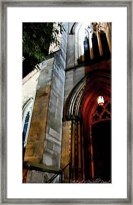 St. Paul's Presbyterian Church Hamilton Ontario  Canada Front View Framed Print by Danielle  Parent