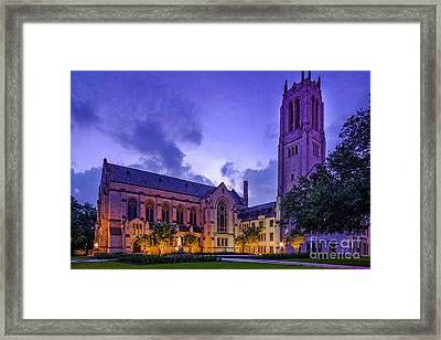 St. Paul's United Methodist Church - Houston Texas II Framed Print by Silvio Ligutti