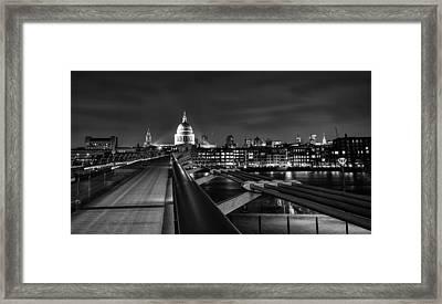 St Pauls With The Millennium Bridge Framed Print by Ian Hufton