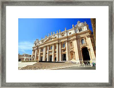 St. Peter Cathedral Framed Print by Valentino Visentini
