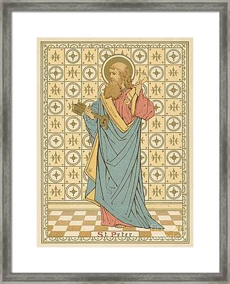 St Peter Framed Print by English School