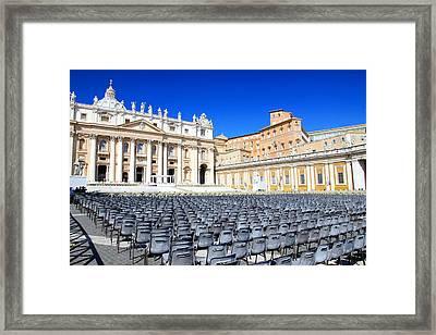 St. Peter Square Framed Print by Valentino Visentini