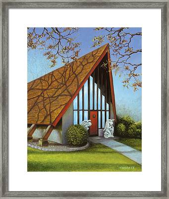 St. Peters Adoration Chapel Framed Print by Tammy Olson