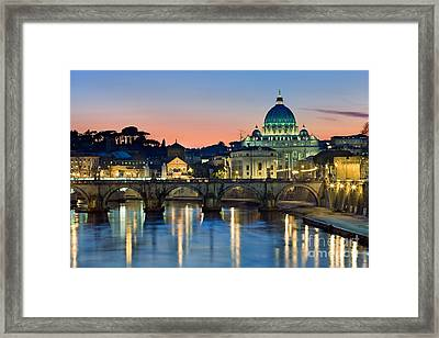 St Peter's - Rome Framed Print by Rod McLean