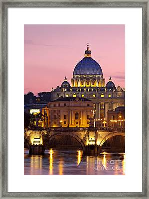 St Peters Basilica Framed Print by Brian Jannsen
