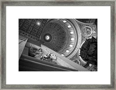 St Peter's Basilica Bw Framed Print by Chevy Fleet