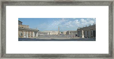 St. Peter's Square Framed Print by Harold Shull