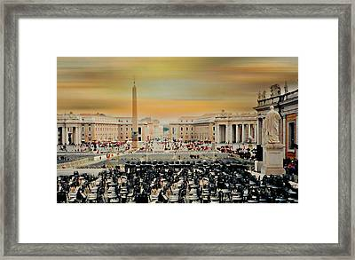 St. Peter's Square Rome Framed Print by Diana Angstadt