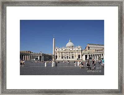 St Peter's Square. Vatican City. Rome. Lazio. Italy. Europe Framed Print by Bernard Jaubert