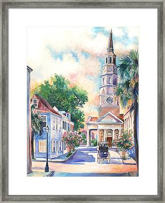 St. Philips Episcopal Church Framed Print by Alice Grimsley