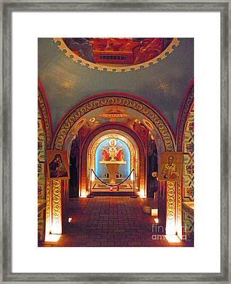 St Photios Greek Shrine Framed Print by Elizabeth Hoskinson